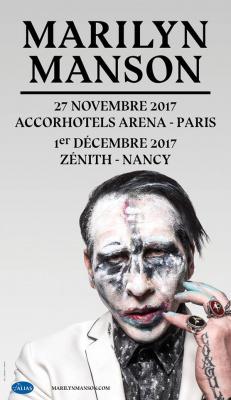Marilyn Manson en concert à  l'Arena Bercy de Paris en novembre 2017