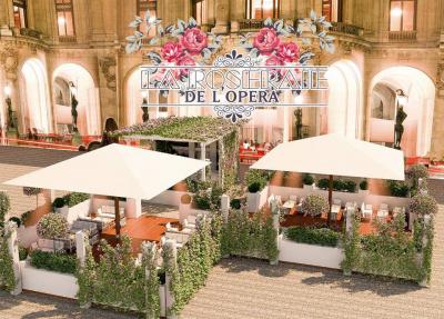 La Roseraie : terrasse estivale 2017 de l'Opéra Restaurant
