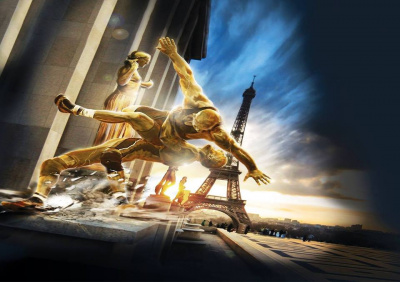 La lutte s'invite à la Tour Eiffel