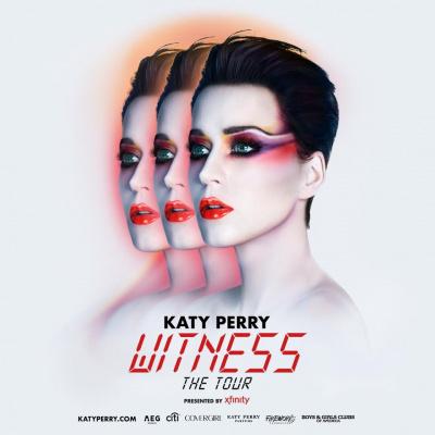 Katy Perry en concert à l'Arena Bercy de Paris en 2018