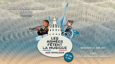 Les armées fêtent la musique 2017 aux Invalides