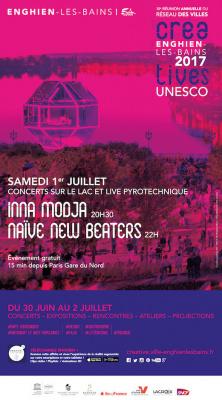 Inna Modja & Naive New Beaters en concert gratuit sur le lac d'Enghien-les-Bains