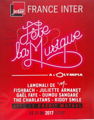 France Inter fête la musique 2017 à l'Olympia de Paris