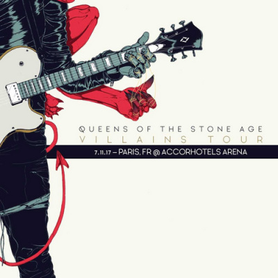 Queens of The Stone Age en concert à l'Arena Bercy de Paris en novembre 2017
