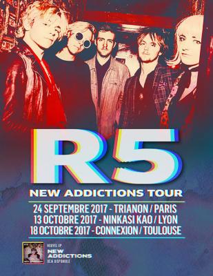 R5 en concert au Trianon de Paris en septembre 2017