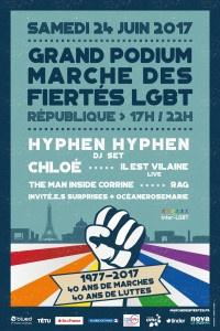 Marche des Fiertés LGBT 2017 à Paris : le programme du Grand Podium à République