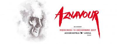 Charles Aznavour en concert à l'Arena Bercy de Paris en décembre 2017