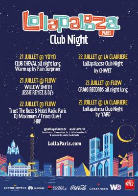 Lollapalooza Club Night à Paris