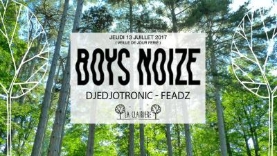 Boys Noize, Djedjotronic et Feadz à La Clairière