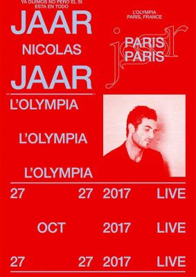 Nicolas Jaar en concert à l'Olympia de Paris en octobre 2017