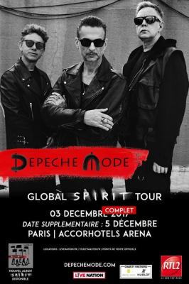 Depeche Mode en concerts à l'Arena Bercy de Paris en décembre 2017