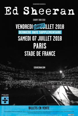 Ed Sheeran en concerts au Stade de France en juillet 2018