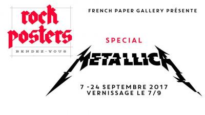 Rock Posters Rendez-Vous spécial Metallica à la French Paper Gallery