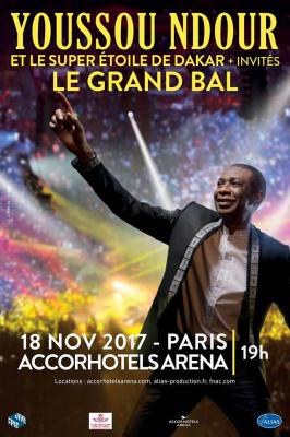 Youssou N'Dour en concert à l'Arena Bercy de Paris en novembre 2017