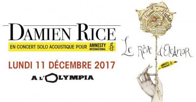 Damien Rice en concert solo acoustique à l'Olympia de Paris en décembre 2017