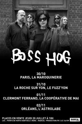 Boss Hog en concert à La Maroquinerie de Paris en octobre 2017