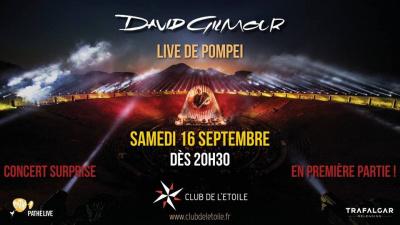 Retransmission du concert de David Gilmour au Club de l'Etoile