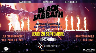 """Retransmission du concert de Black Sabbath """"The End of the End"""" au Club de l'Etoile"""