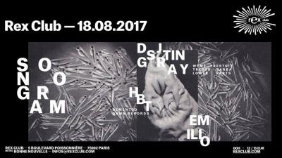 Sonogram au Rex Club avec DJ Stingray, HBT et Emilio