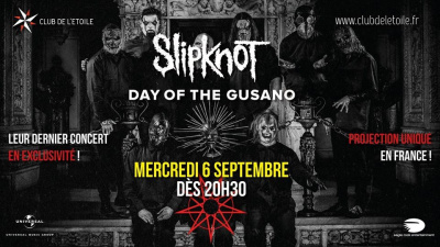 retransmission de day of the gusano by slipknot au club. Black Bedroom Furniture Sets. Home Design Ideas