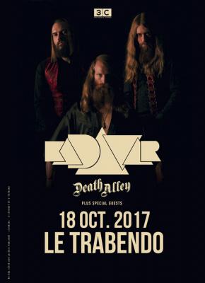 Kadavar et Death Alley en concert au Trabendo de Paris en octobre 2017