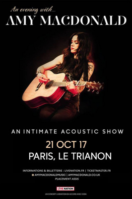 Amy Macdonald en concert au Trianon de Paris en octobre 2017