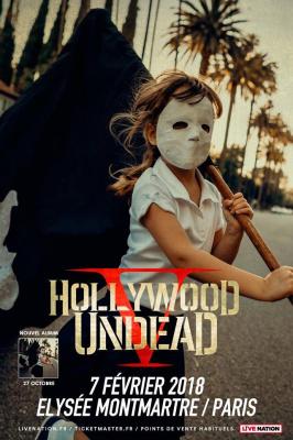 Hollywood Undead en concert à L'Elysée Montmartre de Paris en 2018