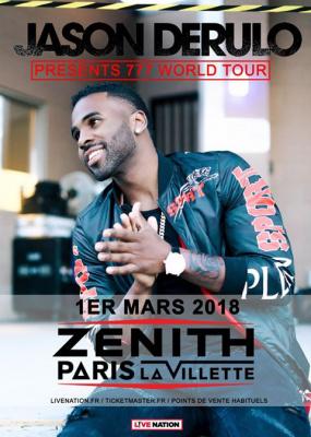 Jason Derulo en concert au Zénith de Paris en mars 2018