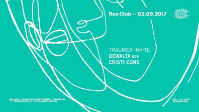 Traumer invite DeWalta b2b Cristi Cons au Rex Club