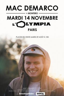 Mac Demarco en concert à l'Olympia de Paris en novembre 2017