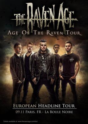 The Raven Age en concert à La Boule Noire de Paris en novembre 2017