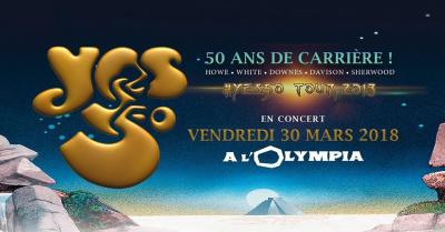 Yes en concert à l'Olympia de Paris en mars 2018