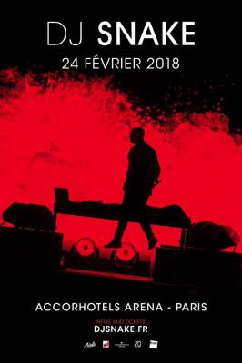 DJ Snake à l'Arena Bercy de Paris en février 2018