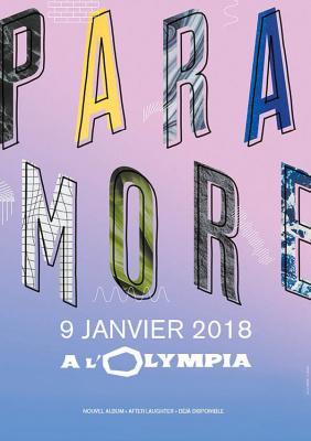 Paramore en concert à l'Olympia de Paris en janvier 2018