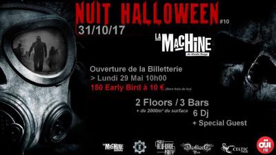 Nuit Halloween 2017 à La Machine