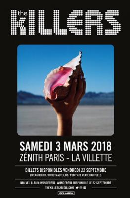 The Killers en concert au Zénith de Paris en mars 2018