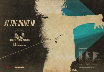 At The Drive-In en concert à l'Olympia de Paris en février 2018