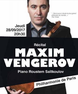 Récital Maxim Vengerov à la Philharmonie de Paris