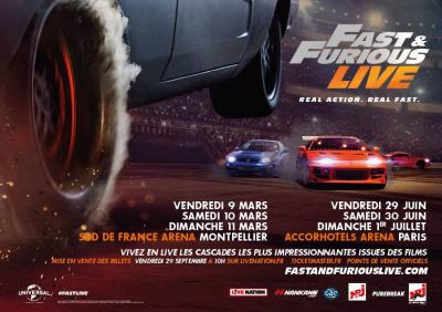 Fast & Furious Live à l'Arena Bercy de Paris en 2018