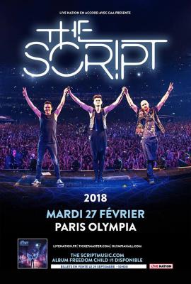 The Script en concert à l'Olympia de Paris en février 2018