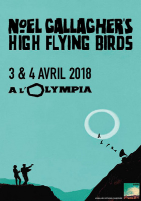 Noel Gallagher's High Flying Birds en concert à l'Olympia de Paris en avril 2018