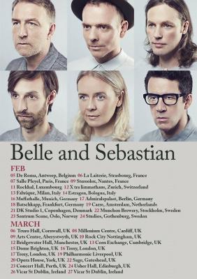 Belle and Sebastian en concert à La Salle Pleyel de Paris en février 2018