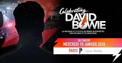 Celebrating David Bowie à La Salle Pleyel en janvier 2018
