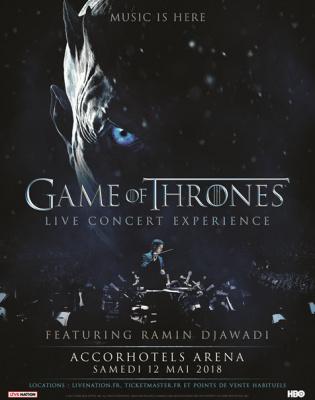Game Of Thrones : Live Concert Experience à l'AccorHotels Arena Bercy de Paris en mai 2018