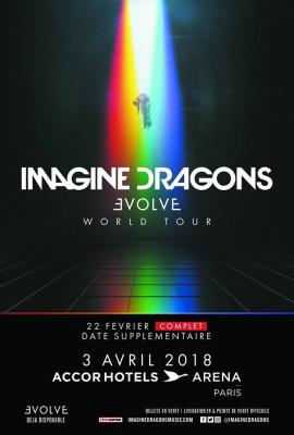 Imagine Dragons en concert à l'Arena Bercy de Paris en février 2018