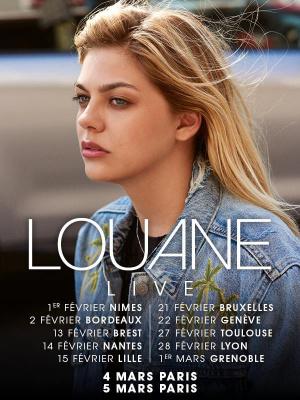 Louane en concert au Trianon de Paris en mars 2018