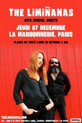 The Limiñanas en concert à La Maroquinerie de Paris en décembre 2017