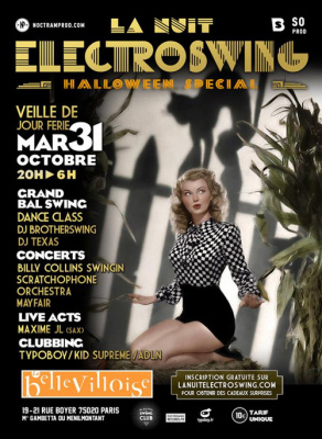 La Nuit Electroswing, spéciale Halloween 2017, à La Bellevilloise