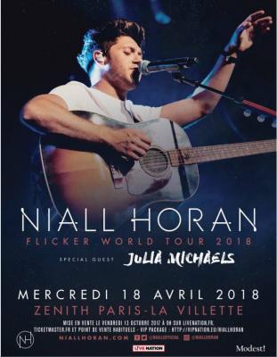 Niall Horan en concert au Zenith Parisen avril 2018