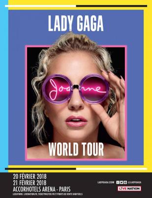 Lady Gaga en concerts à l'AccorHotels Arena Bercy de Paris en février 2018
